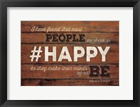 #HAPPY Framed Print