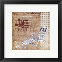 Cabana Beach Collage II Framed Print