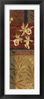 Framed Martinque Orchids II