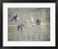 Framed Laundry Day Bluebirds