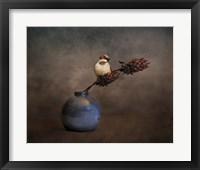 Framed Little Sparrow Friend