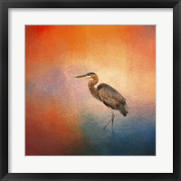 Framed Sunset Heron
