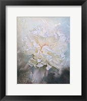Framed Abstract Peony In Blue