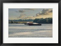 Barge On The River 1 Framed Print
