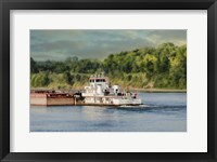 Barge On The River 2 Framed Print