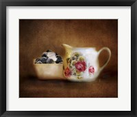 Blueberries And Cream Framed Print