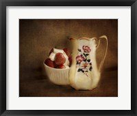 Strawberries And Cream Framed Print