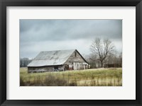 Framed Old Gray Barn