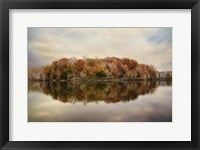 Autumn At Lake LaJoie 4 Framed Print
