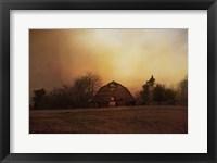 Framed Old Barn On A Fall Evening
