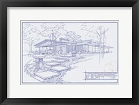301 Cypress Dr. Blueprint Framed Print