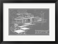 301 Cypress Dr. Grayline - Inverse Framed Print