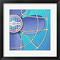 Bel-Aire Fan - Aqua Framed Print