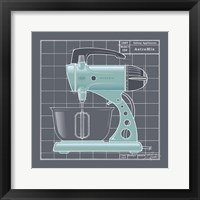 Galaxy Mixer - Aqua Framed Print