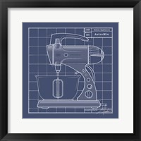 Galaxy Mixer - Blueprint Framed Print