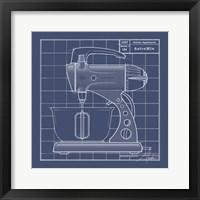 Galaxy Mixer - Blueprint Framed Print