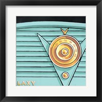 Galaxy Radio - Aqua Framed Print