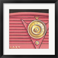 Galaxy Radio - Coral Framed Print