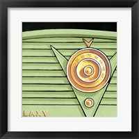 Galaxy Radio - Green Framed Print