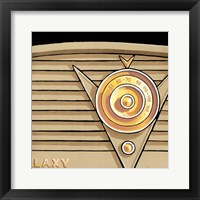 Galaxy Radio - Tan Framed Print
