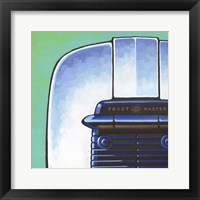 Galaxy Toaster - Green Framed Print
