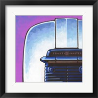 Galaxy Toaster - Purple Framed Print