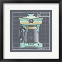 Galaxy Coffeemaid - Aqua Framed Print
