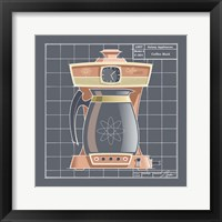 Galaxy Coffeemaid - Coral Framed Print