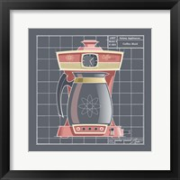Galaxy Coffeemaid - Flamingo Framed Print