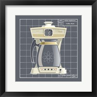 Galaxy Coffeemaid - Ivory Framed Print