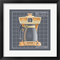 Galaxy Coffeemaid - Tangerine Framed Print
