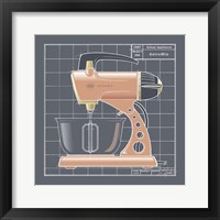Galaxy Mixer - Coral Framed Print
