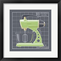 Galaxy Mixer - Lime Framed Print