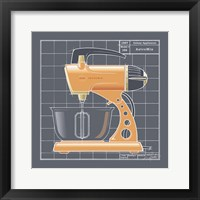 Galaxy Mixer - Tangerine Framed Print