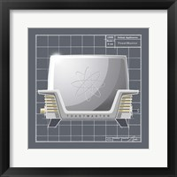 Galaxy Toaster - Pewter Framed Print