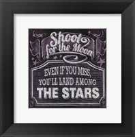Framed Chalkboard - The Moon & The Stars