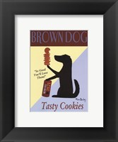 Framed Brown Dog Cookies