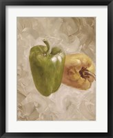Framed Sweet Peppers II