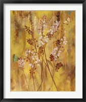 Golden Butterfly Field I Framed Print