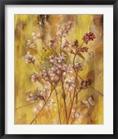 Golden Butterfly Field II Framed Print