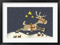 Framed Santa's Reindeer