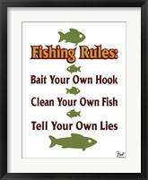 Framed Fishing Rules