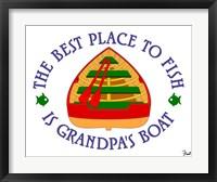 Framed Grandpa's Boat
