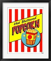 Framed Hot Buttered Popcorn