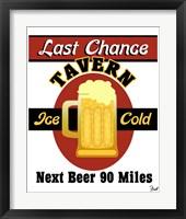 Framed Last Chance Tavern