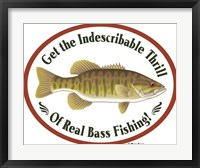 Thrill Of Bass Fishing Framed Print