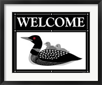 Framed Welcome Loon