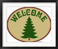 Welcome Tree Framed Print