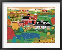 Apple Pond Farm Fall Framed Print