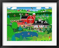 Apple Pond Farm Summer Framed Print